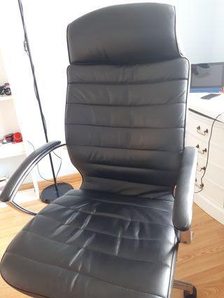 sillón de dirección de piel ofiprix