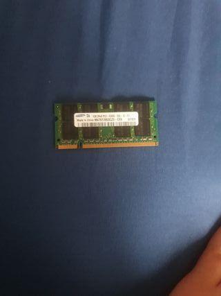memoria ram 1GB para portatil