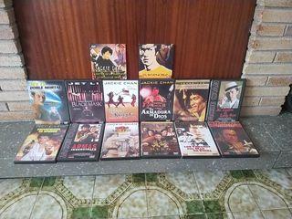surtido de películas de artes marciales y varias.