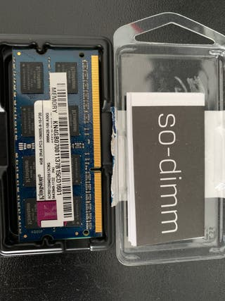 Memoria Ram 4 Gb portátil KINGSTON