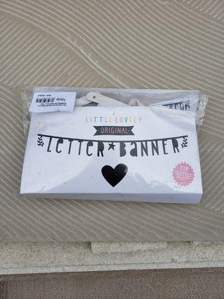 Letter Banner. Cartel con letras.
