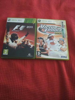 F1 Y VIRTUAL TENIS XBOX360