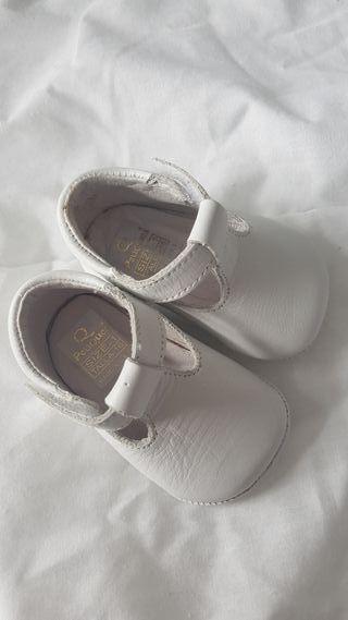 zapato blanco bebe talla 16