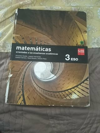 libro de matemáticas 3°eso