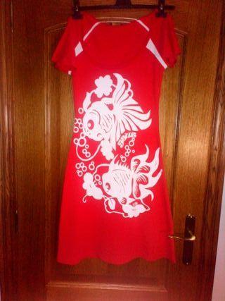 Vestido/bata rojo veraniego