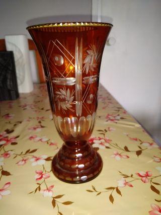 jarrón de cristal antiguo
