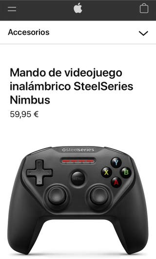 Mando para iPhone iPad Apple TV NIMBUS