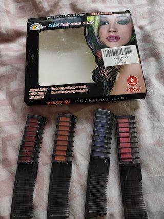 4 tizas de colores para el pelo