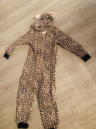Mono pijama disfraz leopardo talla 6/8