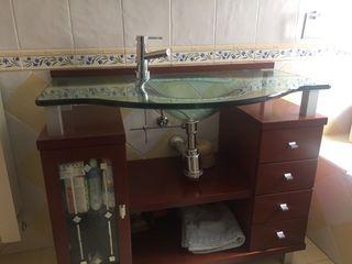 Conjunto de mueble 100x40 y espejo 100x 80