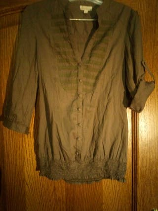 Camisa mujer botones manga codo