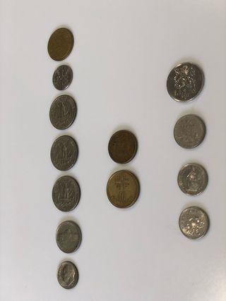 Monedas Americanas y Francesas