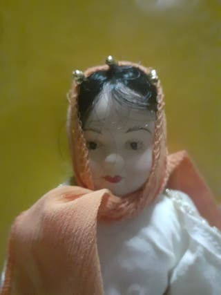 muñeca de porcelana articulada VINTAGE AÑOS 80
