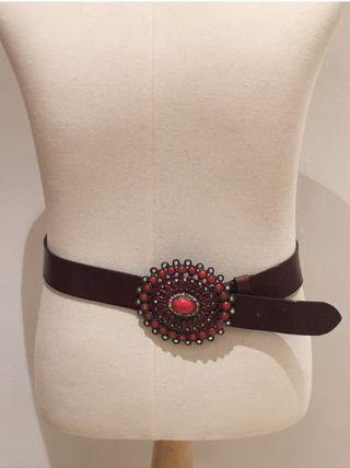Cinturón vintage estilo BOHO CHIC piel