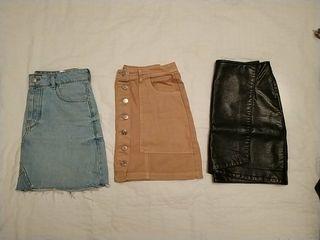 Lote 3 mini faldas