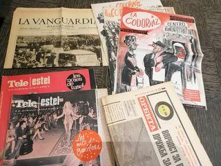 revistas y periódicos antiguos