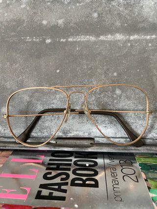 Gafas piloto vintage doradas