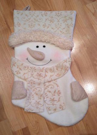 Calcetín blanco Navidad