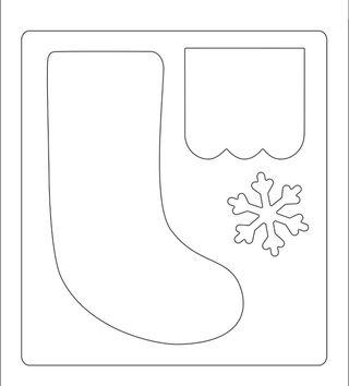 Troquel Bigz grueso nuevo calcetín navidad regalo