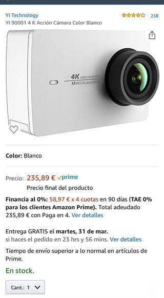 Xiaomi YI action cámara 4K con carcasa buceo