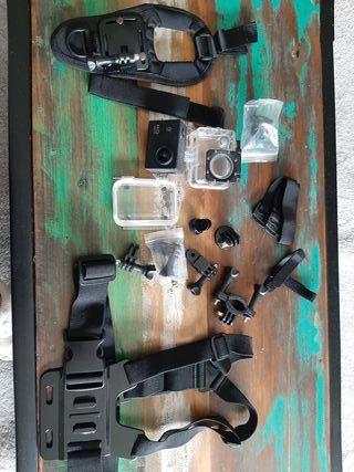 cámara fotos y video para agua y deportes con acce