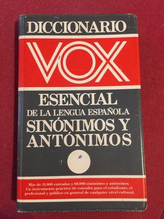 Diccionario Vox Esencial De La Lengua Española Sin