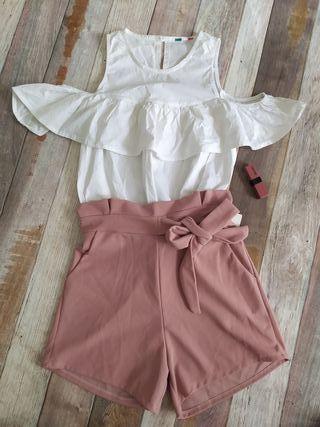 Precioso conjunto de pantalón y blusa!