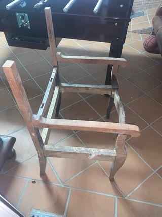 Se vende estructura de madera para silla