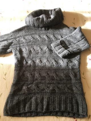 Precioso jersey Lana mujer gris