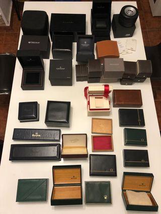 Caja reloj lote 38 cajas rolex omega tag