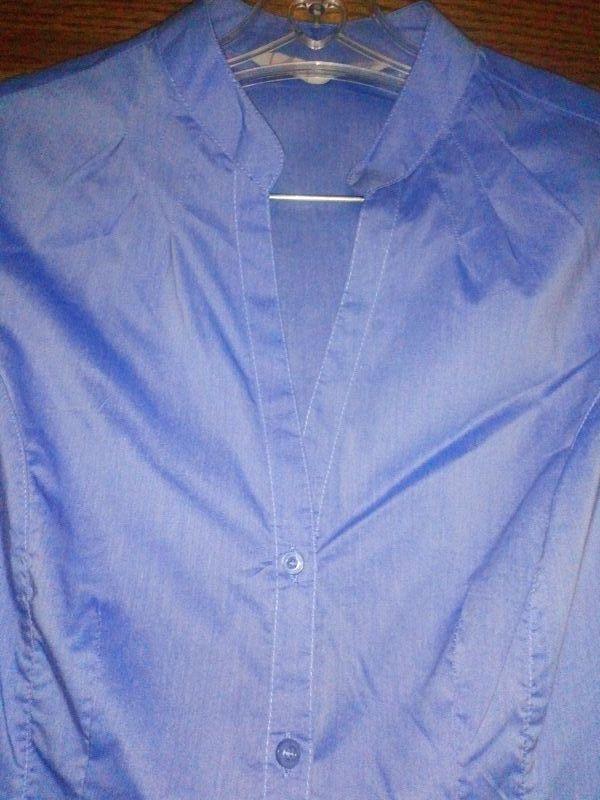 camisa mujer manga corta azul claro Stradivarius