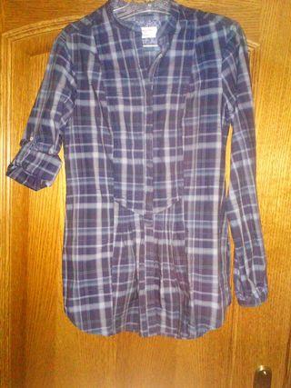 Camisa mujer Massimo Dutti azul
