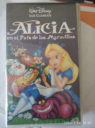 Alicia en el País de las Maravillas. Disney. VHS.