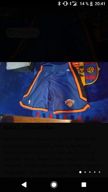 pantalón nba New York knicks talla L Adidas basket