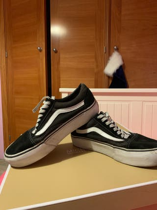 Zapatillas old skool vans negras y blancas
