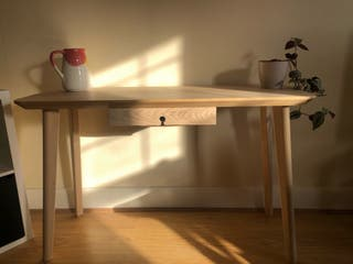 Wooden Desk + Storm Grey Chair