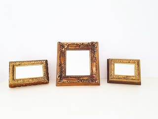 Espejos madera dorada