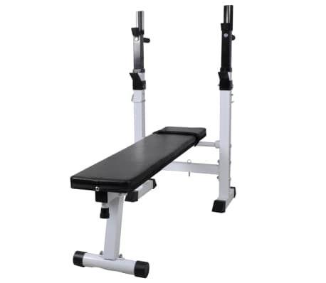 Banco ejercicios soporte y pesas