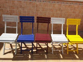 sillas madera color 5