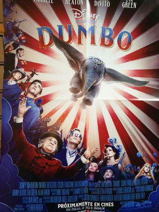 póster Dumbo Tim Burton film película