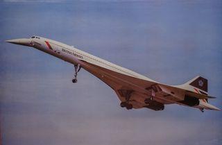 Cartel avión Concorde