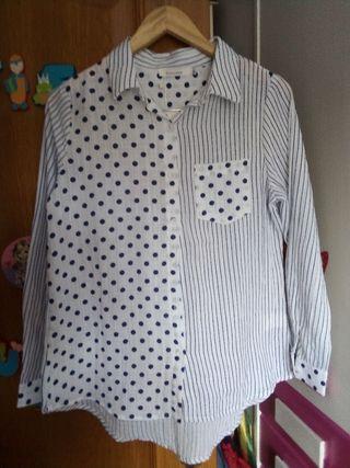 Camisa algodón mujer NUEVA Talla L ó 40
