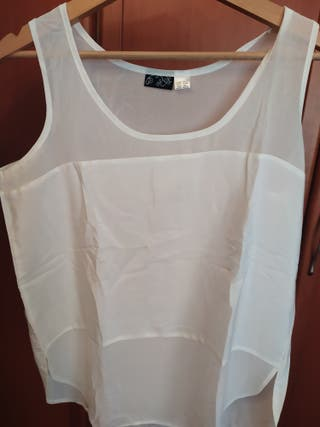 lote 4 camisas sin mangas de mujer