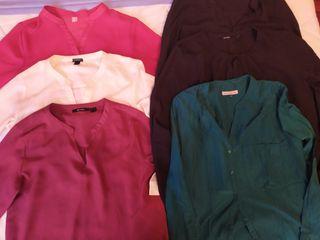 lote 6 camisas de mujer