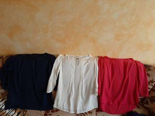 tres camisetas de entretiempo
