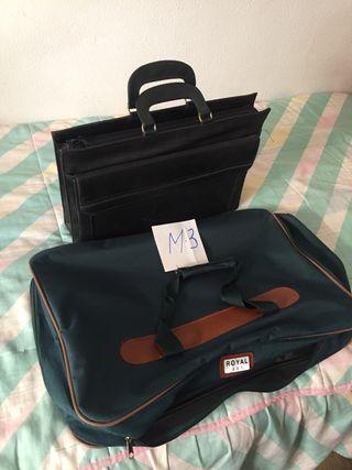Maletín y maleta