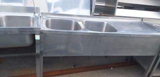 Fregadero Inox 2 unidades