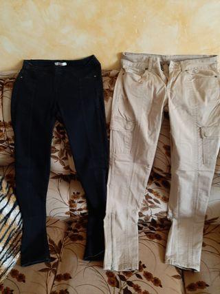 pantalones mujer pitillo