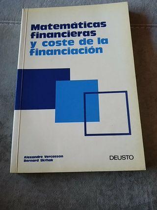 Libro Matemáticas financieras y coste.