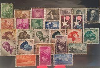 Año completo de sellos 1958